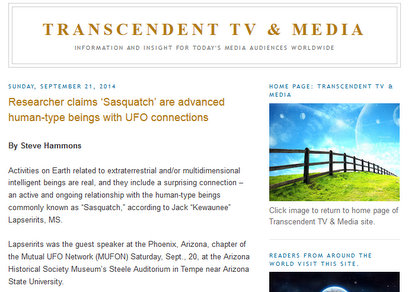 Transcendent TV & Media Researcher claims 'Sasquatch' are advanced human-type beings with UFO connections - Mozilla Firefox 9222014 34824 PM